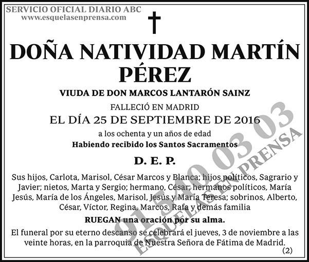 Natividad Martín Pérez